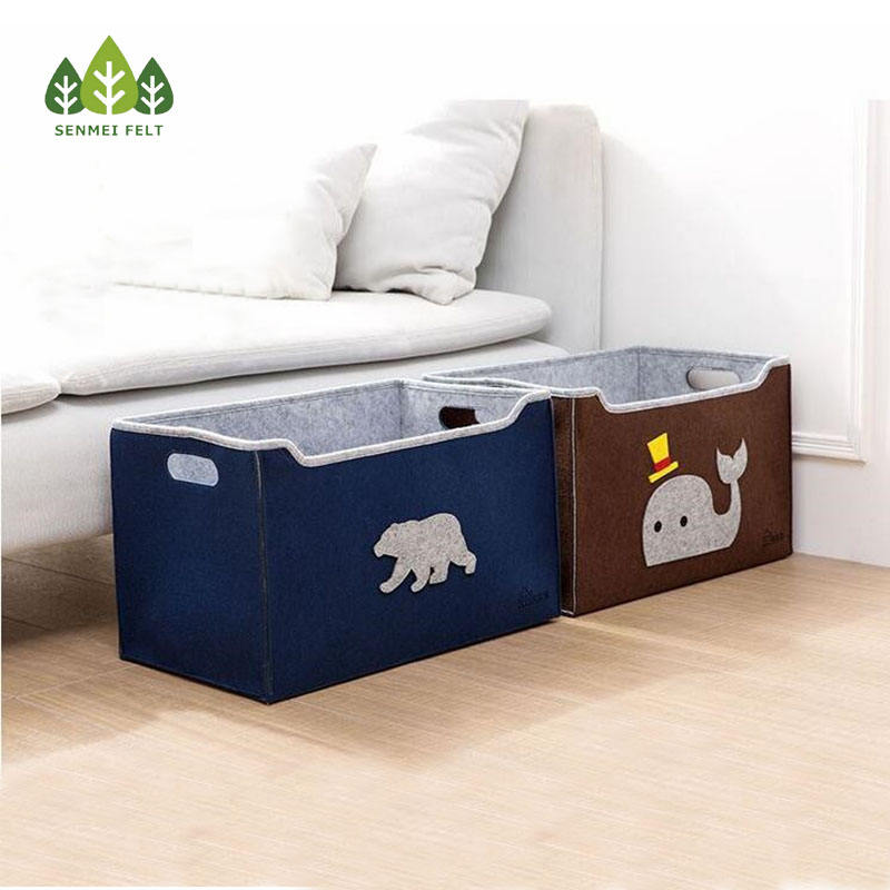 Sundries [ Storage Clothing ] Storage Hot Storage Basket Household Dirty Clothing Felt Storage Box Toys Put Sundries Home Storage