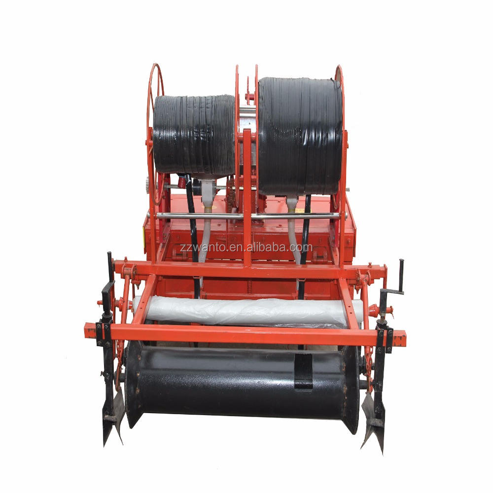 Tractor mounting multifunction rotary tillage film mulching and fertilizing machine