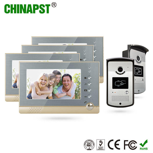 Doorbell Handsfree Color Villa Door to Door Intercom Video with Take Photo Function PST-VD07R-ID