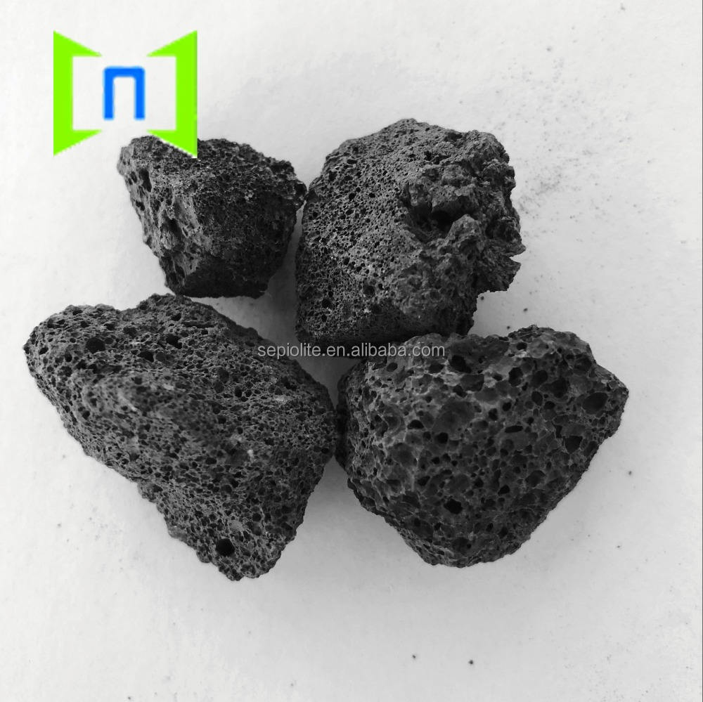 black bbq lava stone volcanic rock for grill