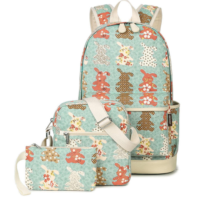 Venta al por Mayor 3pcs conjunto mochila de lona de China