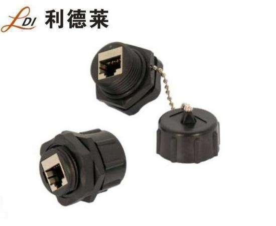 IP67 Front panel mount waterproof RJ45 connector