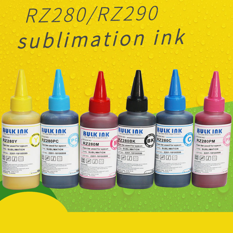 High quality dye 100ml Inkjet sublimation ink for A4 A3 sublimation ink 4 or 6 color Printing Ink