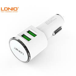 LDNIO C29 5V 3.4A Dual USB Ports Car Charger Universal Adapter with cable for smartphone iphone Samsung S7 HTC LG Cell phone