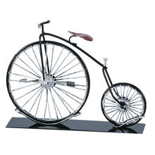 Wr Holiday Gift Item Metal 3D Laser Cut Miniature Model Kits Penny Farthing Bicycle Bike Toy Vintage Home Decor 24*5.5*17cm