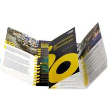 Offset printing DL flyer leaflet brochure booklet