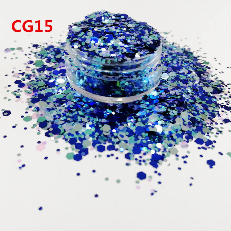 Hot sales metallic glitter powder for making crafts,chunky glitter