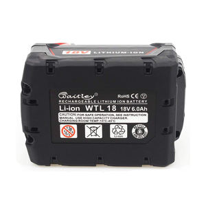 Waitley M18 18V 6.0 Ah Power Tool Replacement Lithium Lion Battery Pack for Cordless Drill Power Tool