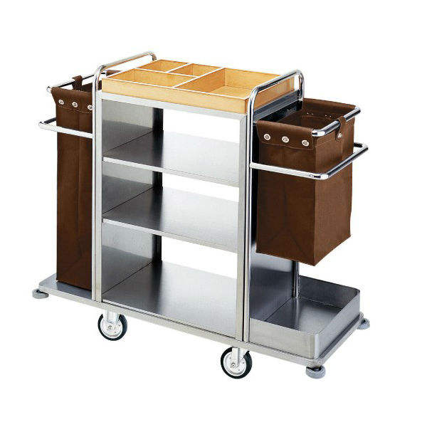 Stainless Steel Housekeeping Cart/Laundry Trolley/ Linen Cart
