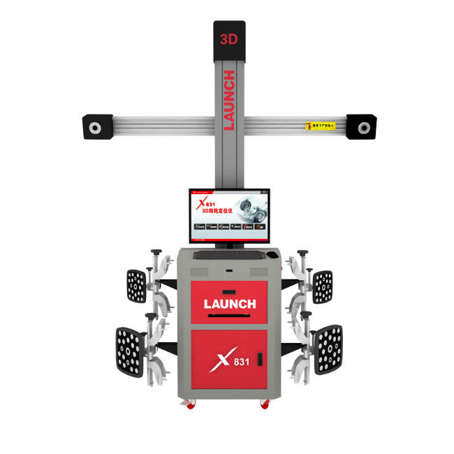 High effciency LAUNCH X831T 3D vehicle battle-axe alignment equipment computer for car checking price