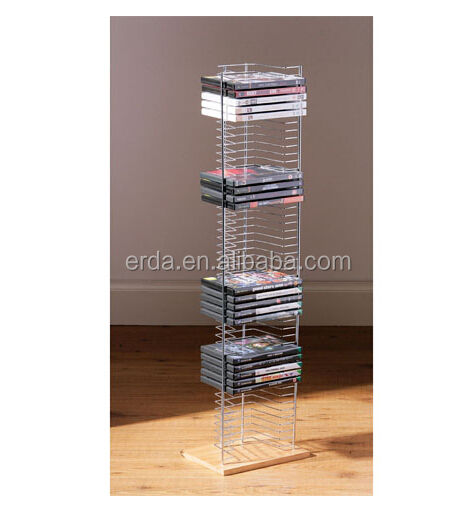 Floor Standing Wood Base 50 CDs DVD / CD towers Rack