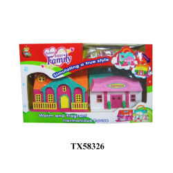 Plastic miniature beautiful house model