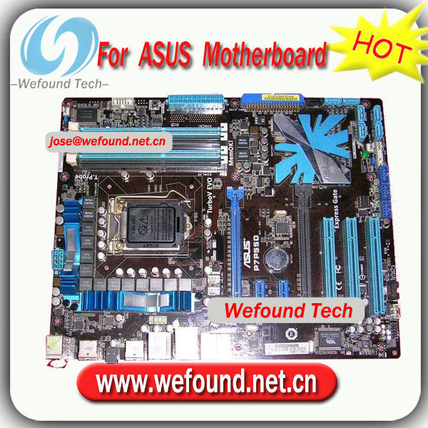 100%working for ASUS Desktop motherboard for P7P55D mainboard for intel P55 ATX INTEL LGA 1156 DDR3