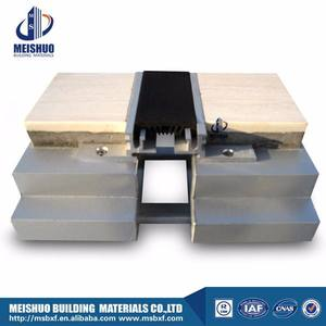 Marble floor aluminum masonry expansion joint with flexible seal
