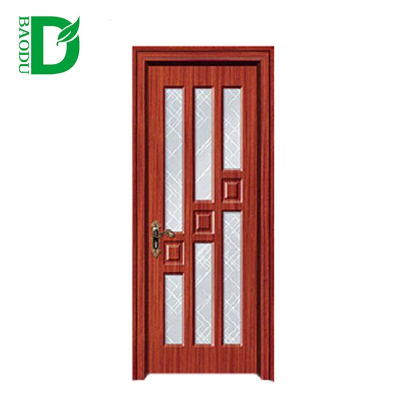 latest wooden door design glass panel garage door