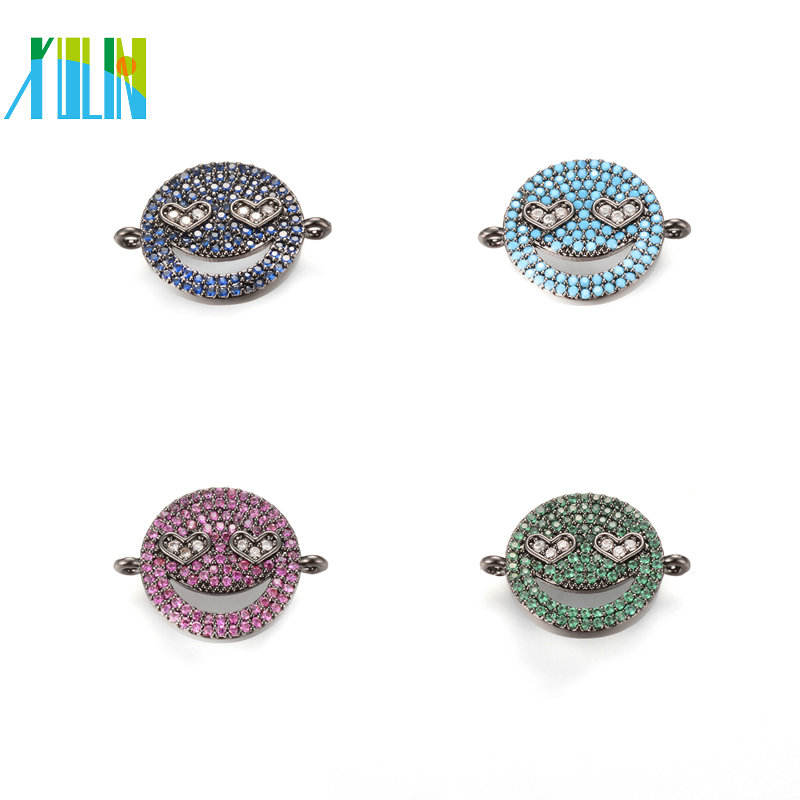 XULIN Hot selling Turquoise Colors Jewelry DIY Jewelry Supplies Micro Pave Charm