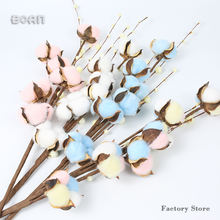 Eternal Preserved Single Stem Artificial Cotton Branch Spray