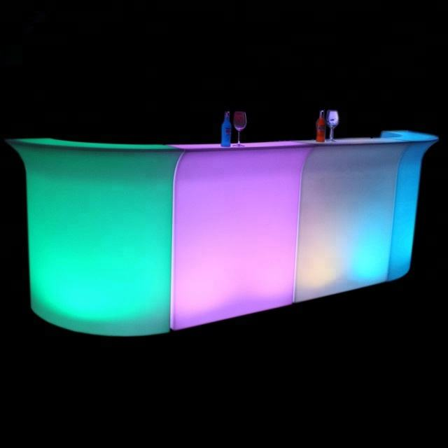 Bảng Cocktail Luminous, Glow Mobile Cocktail Bar Counter, Led Portable Cocktail Bar
