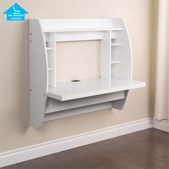 New design MDF wood household wall mount computer desk