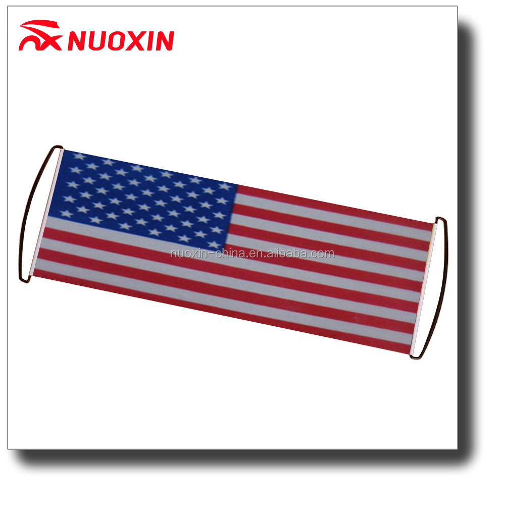 NX FLAGS America scroll out banner/hanging scroll banner/hand held scrolling banner