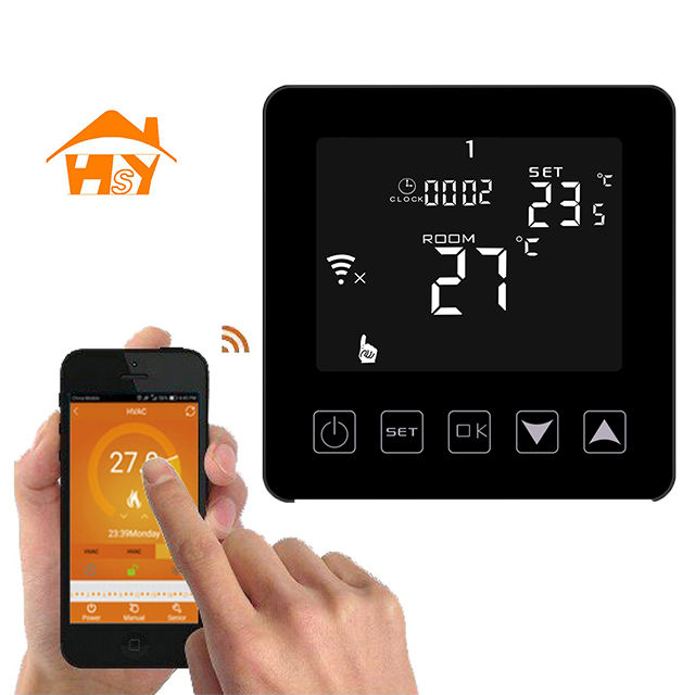 wifi remote control ajustable switch thermostat timer with week day 6 period programmable function