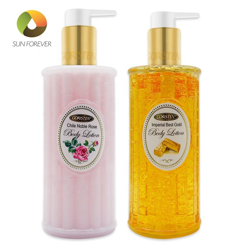 Natural skin care hydrating firming rose gold body lotion