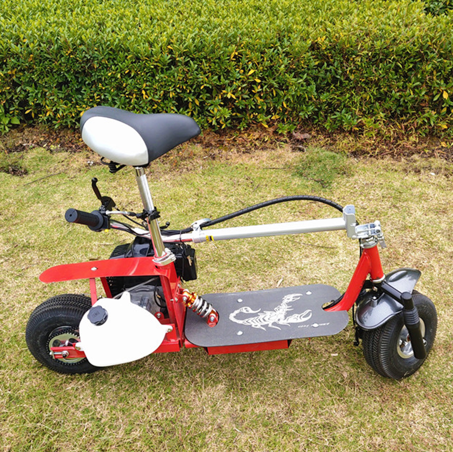 folding scooter 49cc gas two stroke engine