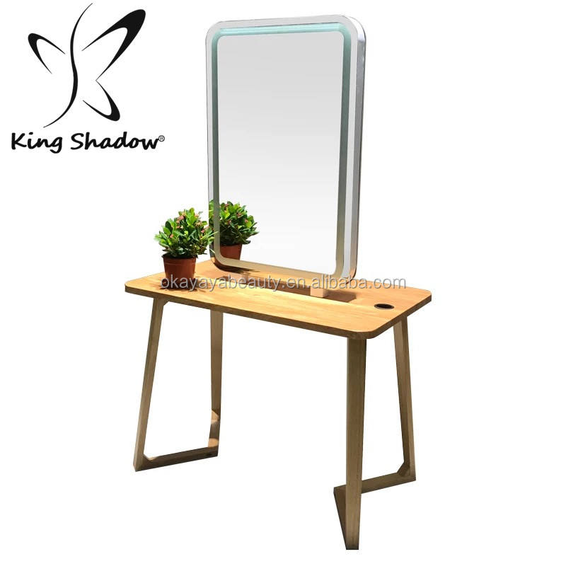 Beauty shop salon equipment baber mirror station double side hair salon station with mirror