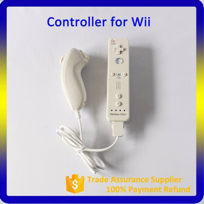 2016 wireless game controller 2 in 1 motion plus for wii controller remote and nunchuck