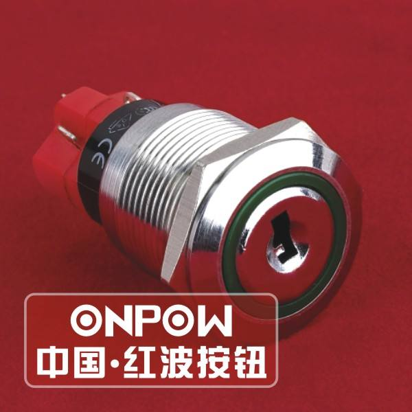 ONPOW 19mm Anti-vandal momentary push button switch metal switch (CE, ROHS)