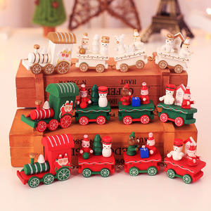 Hot Sale Christmas Wooden Train Ornament Children's Holiday Christmas Toys Christmas Gifts