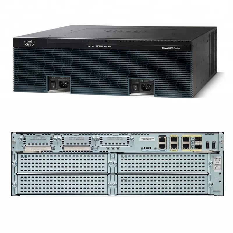 D'origine CISCO3945E/K9 Routeur Sécurité Bundle avec licence SEC PAK CISCO3945E-SEC/K9
