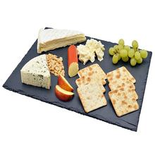 Wholesale Rectangular Shape 30x20cm Natural Black Dinner Slate Plate with Competitive Price