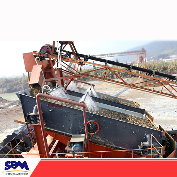 Sand and gravel screening plant