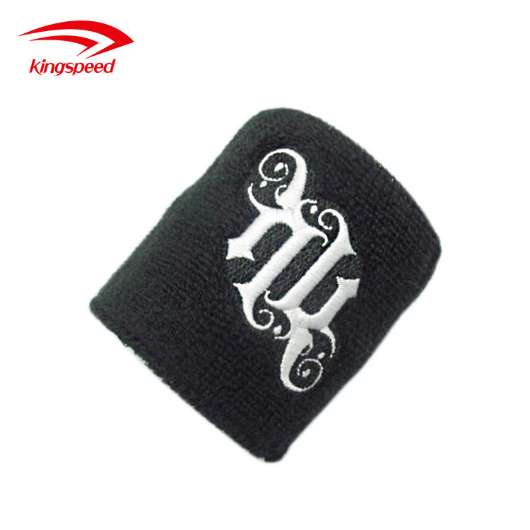 Cheap Custom Terry Cotton Sports Athletic Embroidered Sweatbands