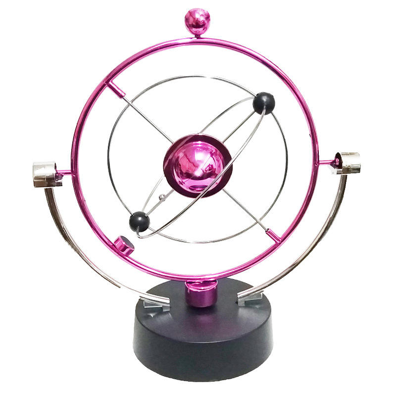 Atom Kinetic Mobile - Executive Toy/FINER Planet Kinetic Mobile Colorful Perpetual Motion Crafts Office Desk Home Decor