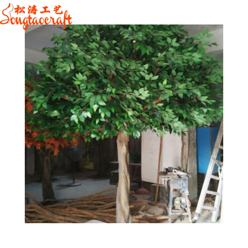 Export artificial oak trees branches and leaves artificial oak tree for decoration