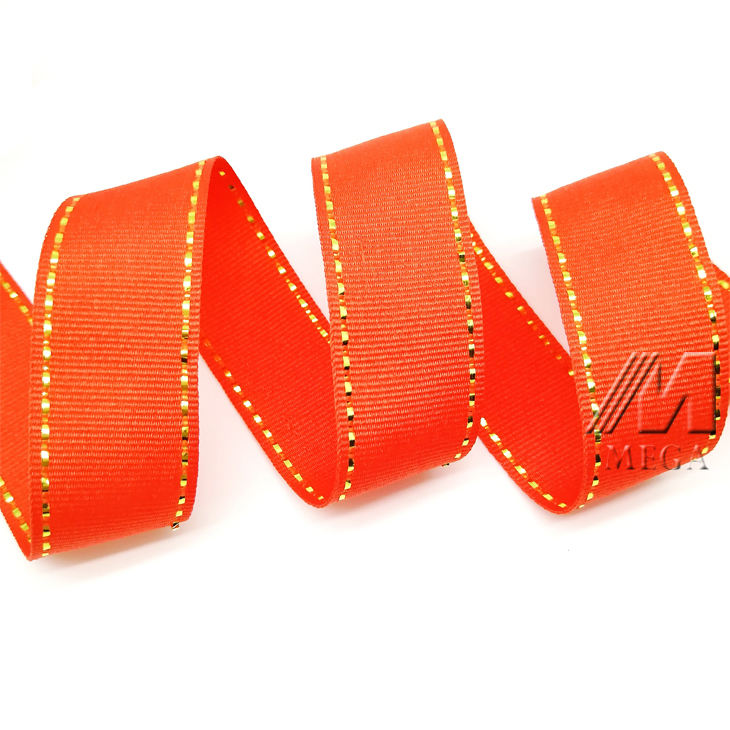 "High Quality Promotional 1"" Polyester Custom Printed Logo Diy Solid Colorful Satin Ribbon"