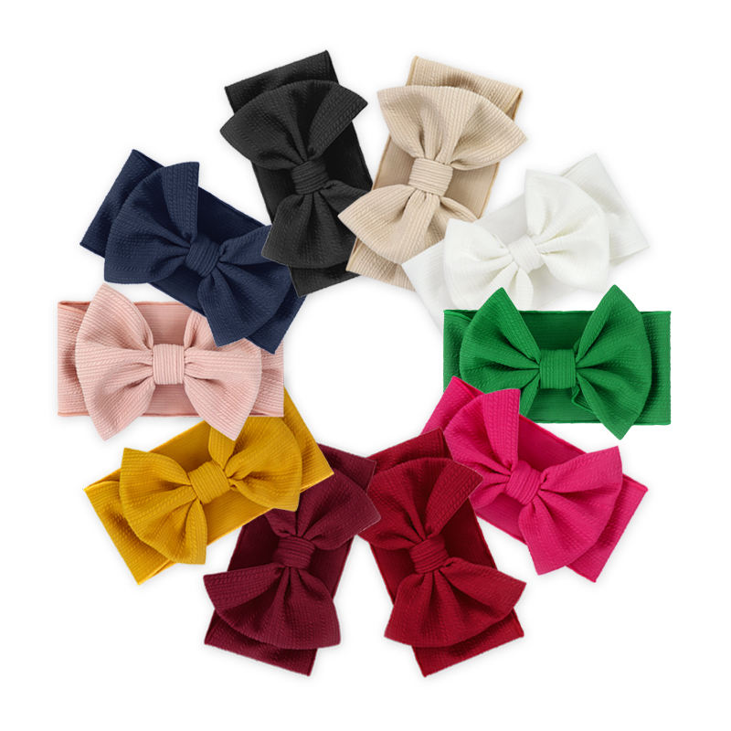 New Design Wholesale Girls Hair Accessories organic Bow Tie Baby Headband