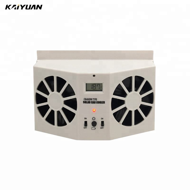 Supply auto portable solar car air conditioner solar car fan