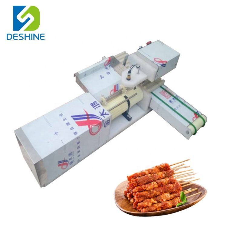 Mutton threading machine beef kebab string machine Lamb skewer wearing machine