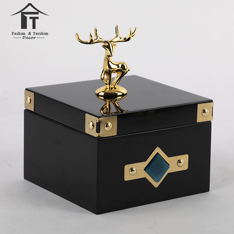 Highend wooden jewelry box fancy jewellery black piano ring box luxury custom logo wooden boxes for jewelry