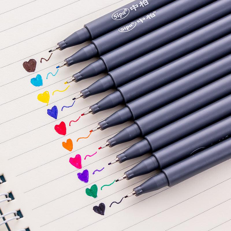 10 stk Sipa Micron Farbstift Set 0,38mm Feine Linie Zeichnung Pen Poröse-Fein