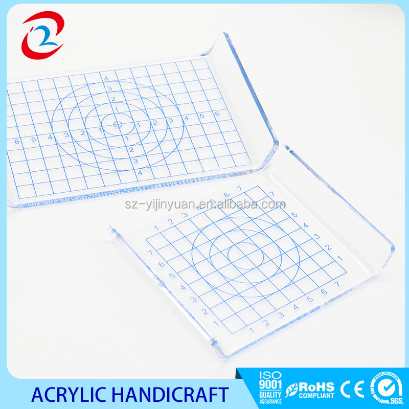 Kearing metric scale printing rigid plastic acrylic patchwork quilting ruler for sewn area
