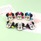 Cheap and Fine High Quality Handmade Glitter Minnie Hairgrips for Children Hair Clips
