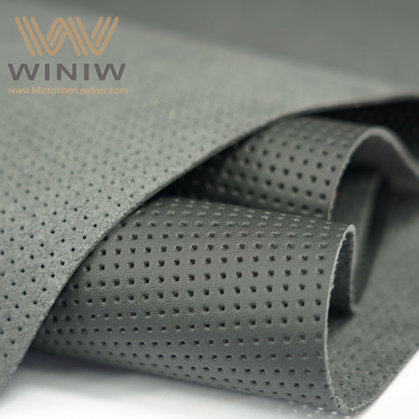 WINIW Embossed Microfiber Artificial Leather Fabric For Car Interior Upholstery Material Perforated