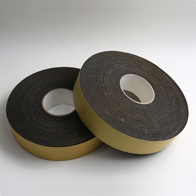 NBR /PVC Nitrile Rubber Foam Insulation Tape Construction Rubber Seal Tape