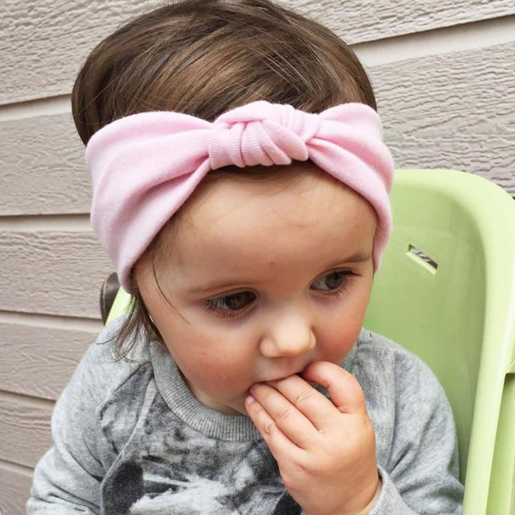 Amazon 2019 hot style baby headband hair bands cute girls accessories ribbon elastic