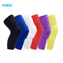 Hot selling basketball sport compression nylon sponge knee sleeve support for running