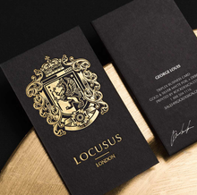 Custom brand name plastic printing business visiting card,gold foil postcard